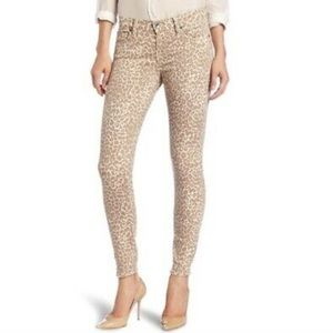 Lucky Brand leopard print skinny jeans